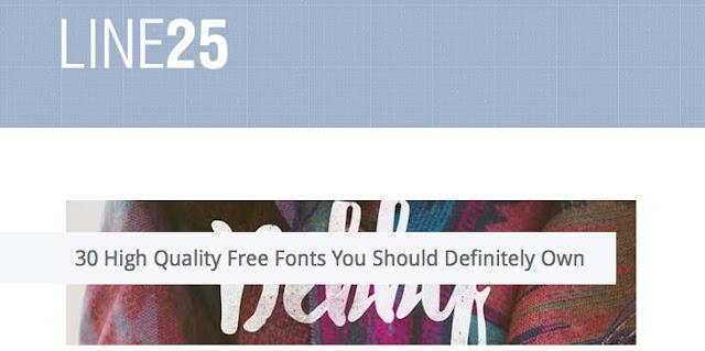 30 Fonts gratuites