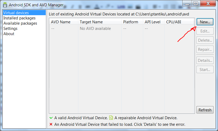 how to use android sdk manager on windows 7