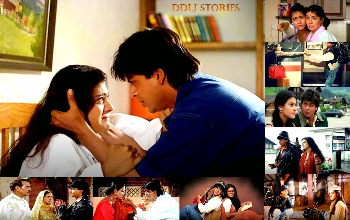 Shahrukh Khan Kajol stills of Dilwale Dulhania le Jayenge and behind the scene stories