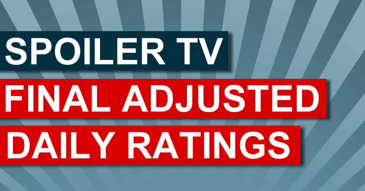 Final Adjusted TV Ratings for Thursday 2nd October 2014