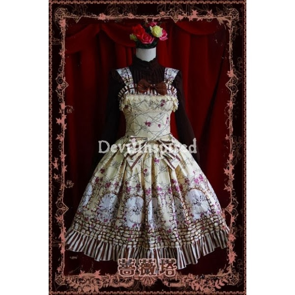 http://www.devilinspired.co.uk/lolita-clothing/2150-yellow-floral-pattern-bow-sweet-rococo-lolita-jumper-skirt.html