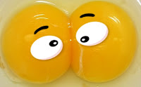 Double yolk egg cartoon