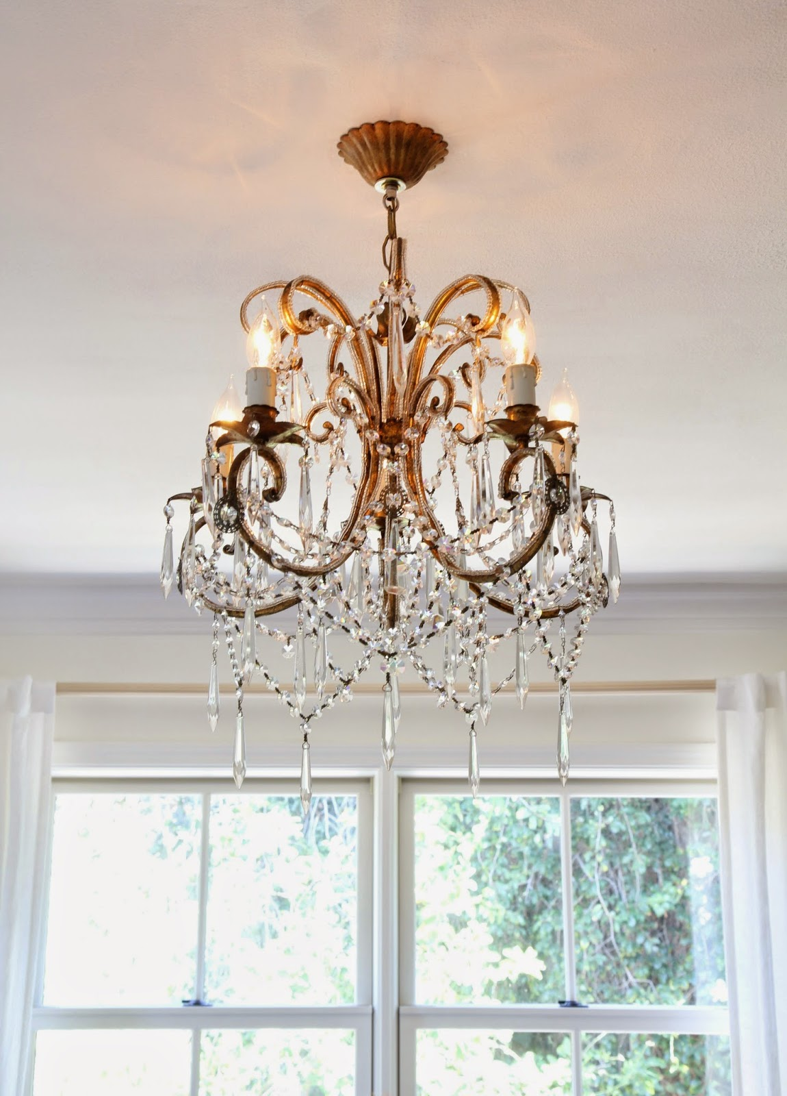 French Crystal Chandelier for the Master Bedroom; Nora's Nest