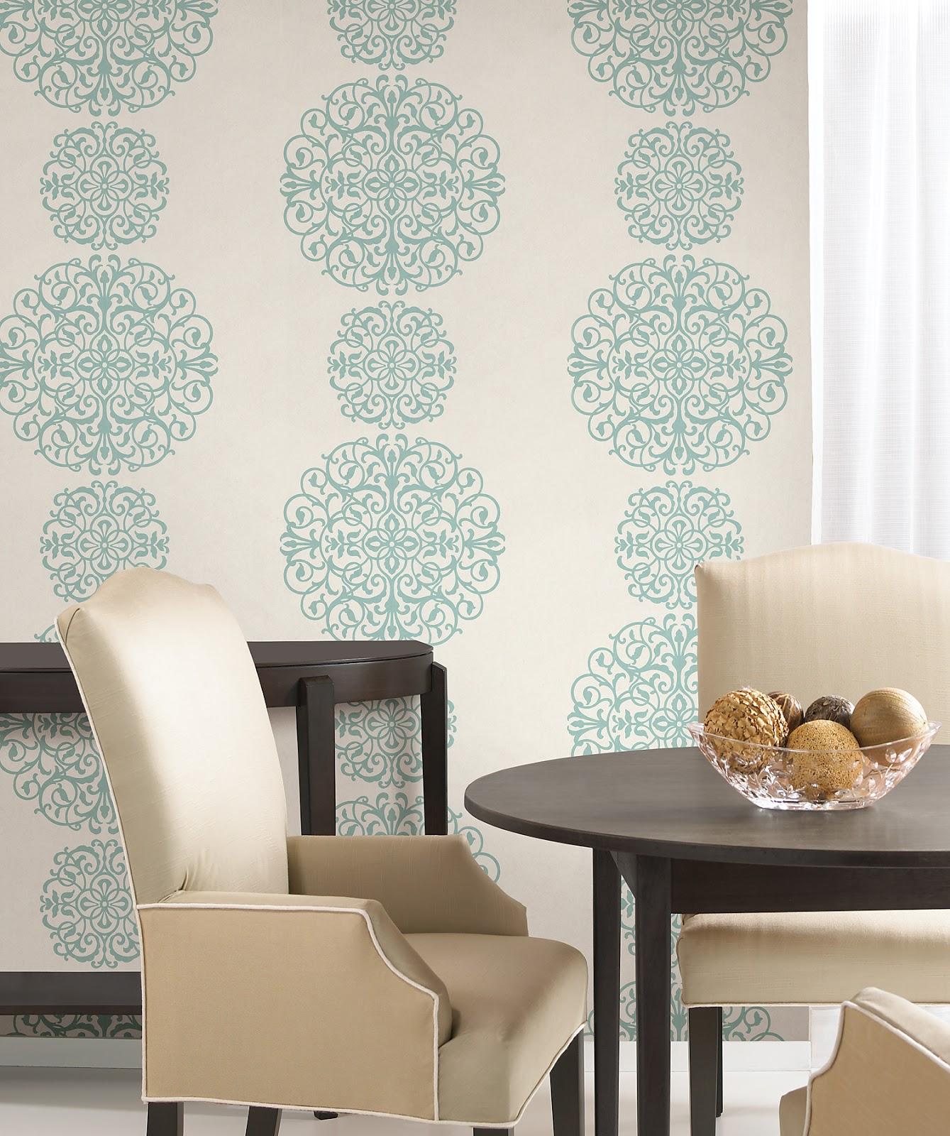 wallcoverings for less medallion design wallpaper
