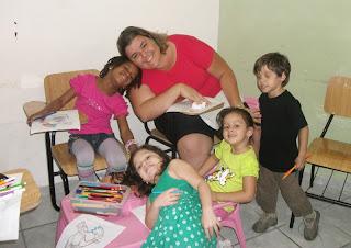 Sala de aula com tia Rita