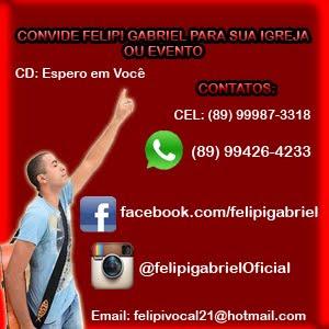 CONTATOS PARA SHOWS DO CANTOR FELIPI GABRIEL