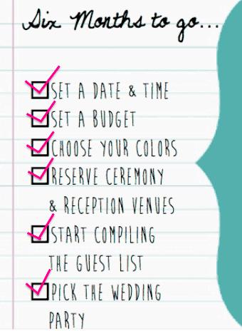 wedding planner Wedding Planning Checklist Six Months