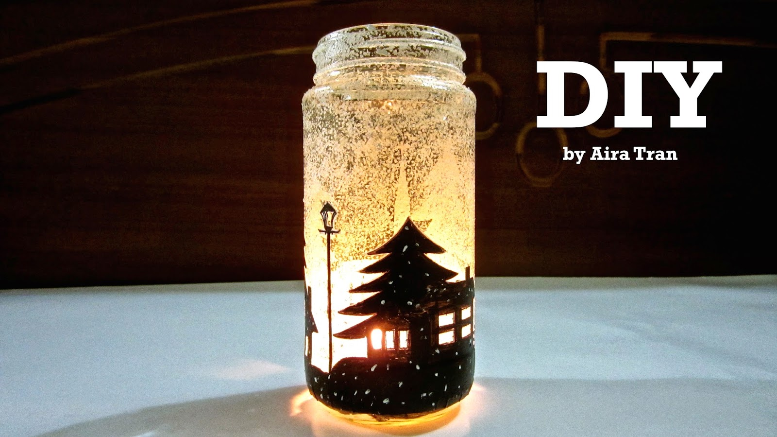 Decorating Candle Jars Aira Tran DIY Christmas Decorations Candle Jars 33