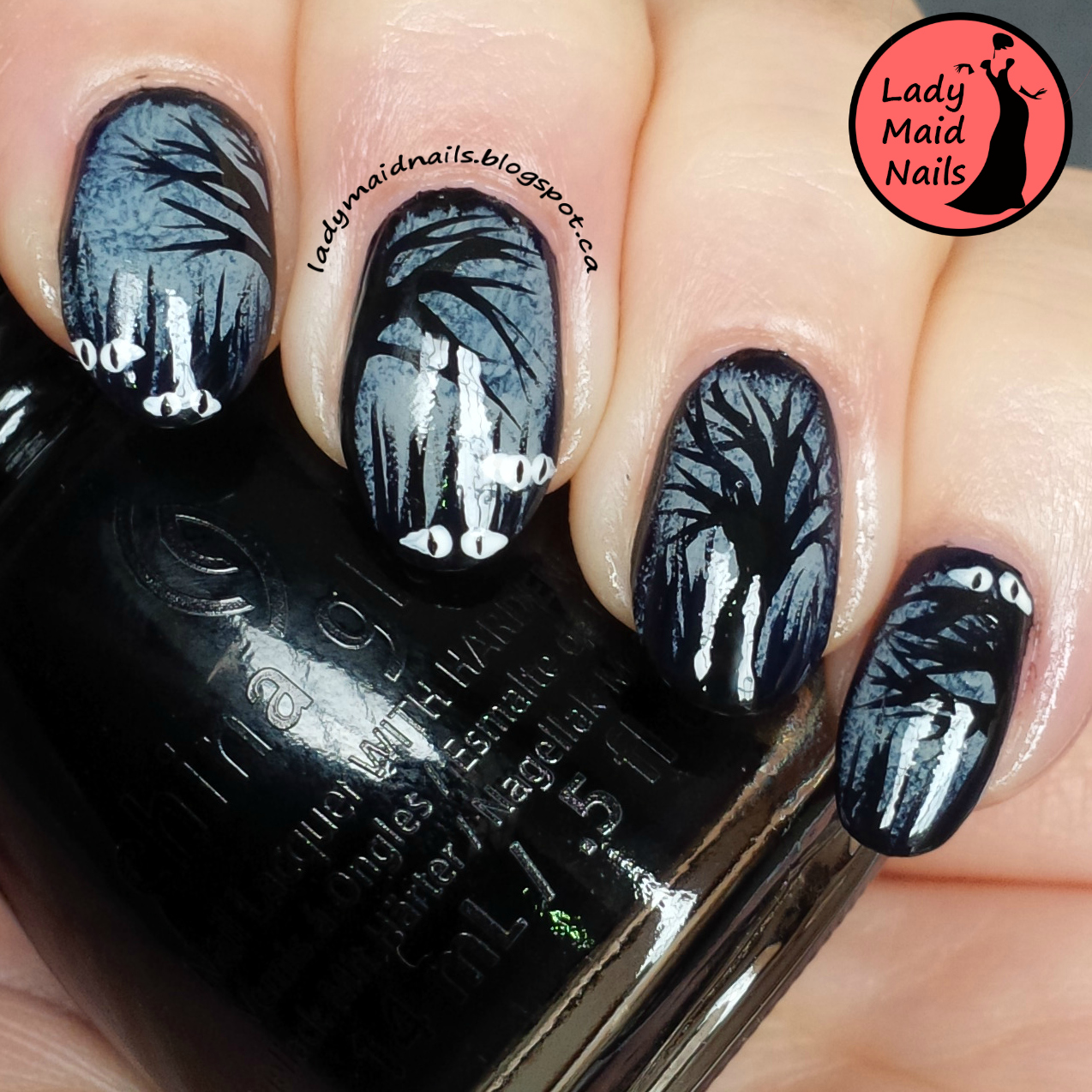 Lady Maid Nails Halloween Nail Art Spooky Forest