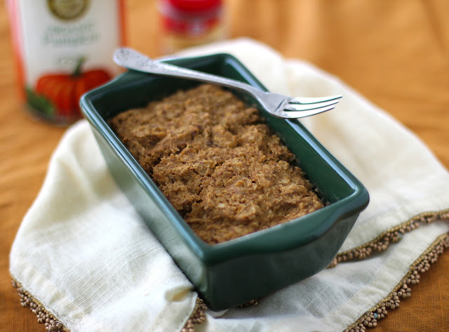 Healthy Microwaveable Pumpkin Protein Loaf