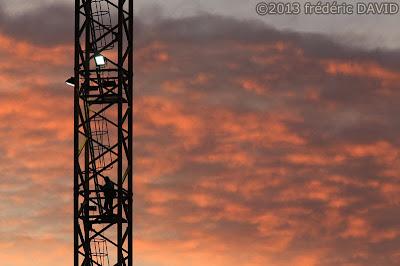 silhouette nuages grue Sénart Seine-et-Marne