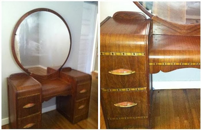 My pretty baby cried she was a bird don 39 t paint your for Antique vanity with round mirror