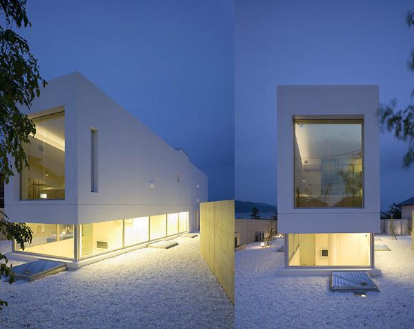 Casa trapecio fachada minimalista y cubica fachadas de for Viviendas minimalistas
