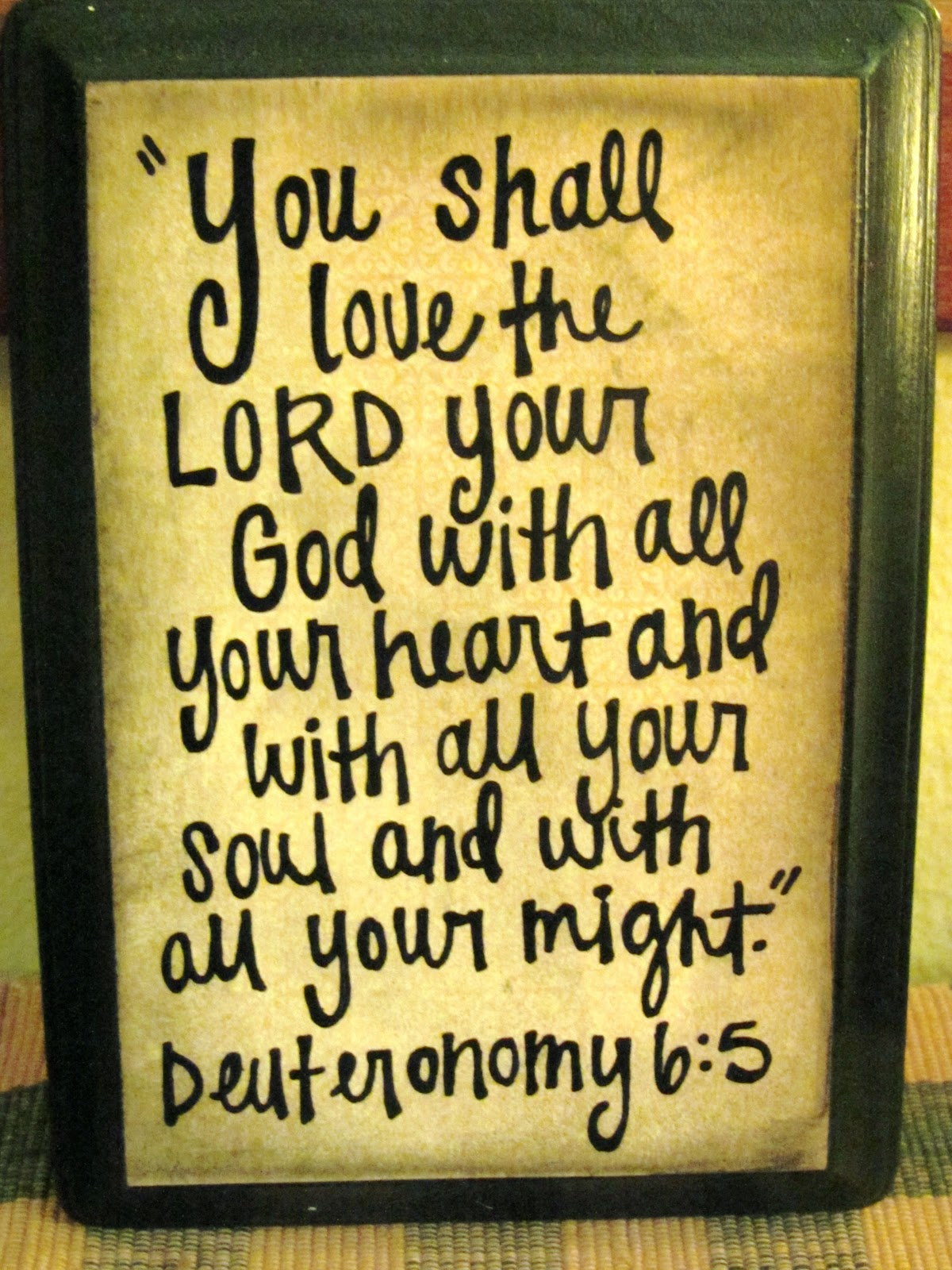 Willow Way: Keep These Commandments On Your Hearts