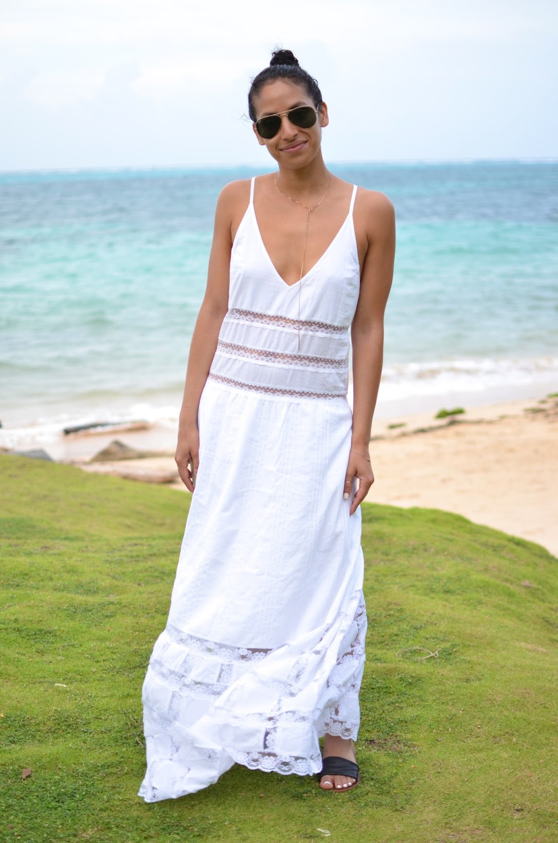 Yemaya Island Hideaway and Spa, Little Corn Island, Nicaragua, Candela NYC, White maxi dress, Lace maxi dress, Candela NYC Elsa dress, vacation style, what to wear in Nicaragua, what to wear on vacation