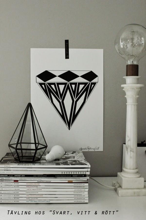 tävling, tävla, diamant, diamanter, diamanttavla, tavla, tavlor, artprint, konsttryck, print, prints, poster, poster, svartvitt, svart och vitt, svartvita, grafiskt,