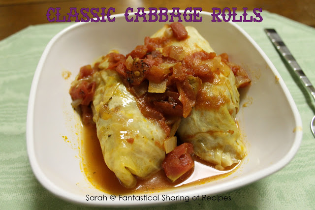 Classic Cabbage Rolls - these are smoky and have a little bite from the Italian sausage. #cabbage #sausage