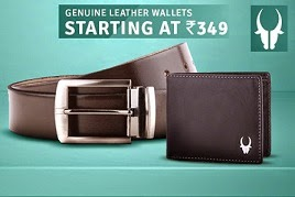 Wild Horn Genuine Leather Wallet: Upto 90% Off, starts from Rs.240 @ Flipkart