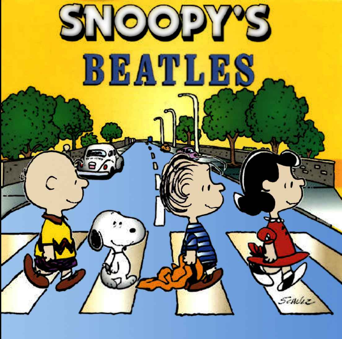 El espejo l dico snoopy en abbey road - Charlie brown bilder ...
