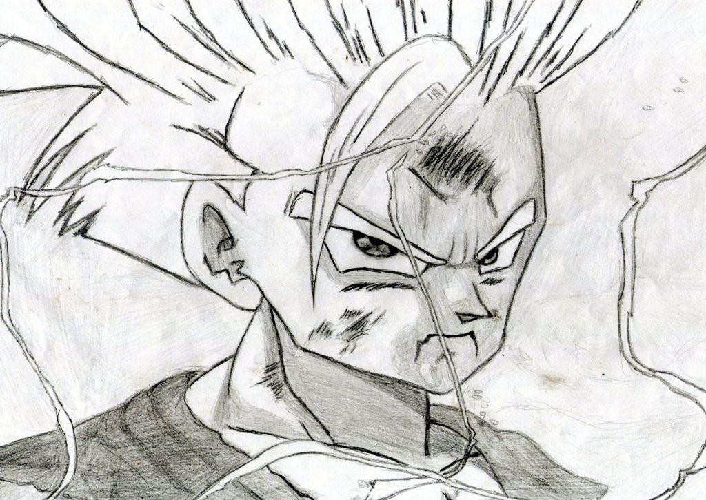 Dibujos manga (Andrea): Gohan (Dragon Ball Z)