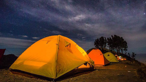 During the night at Sembalun Crater rim