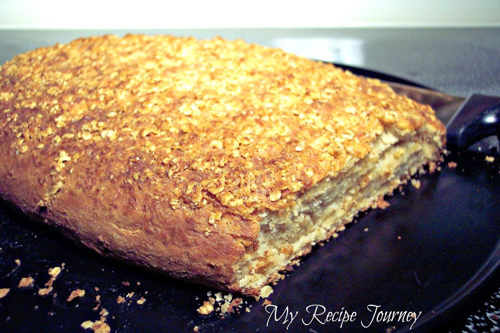 Sweet n' Salty Topped Oatmeal Bread