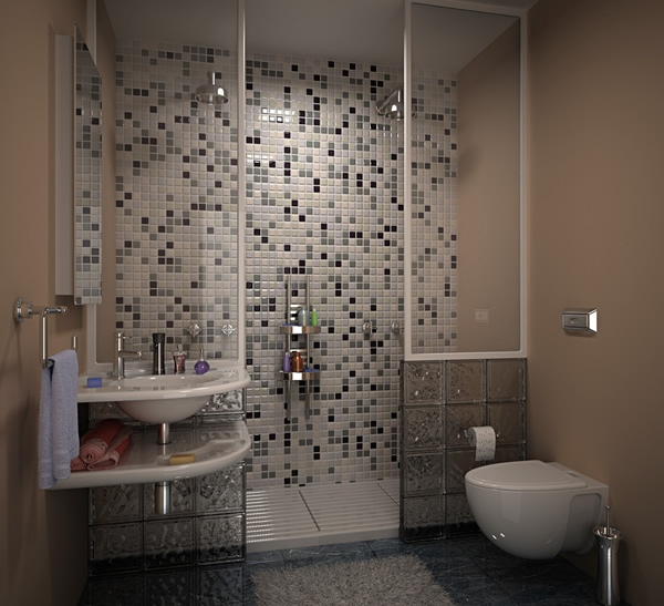 Bathroom designs tile patterns home decorating for Bathroom grey tiles ideas