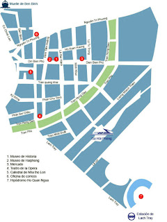 Street plan of Haiphong (Vietnam)