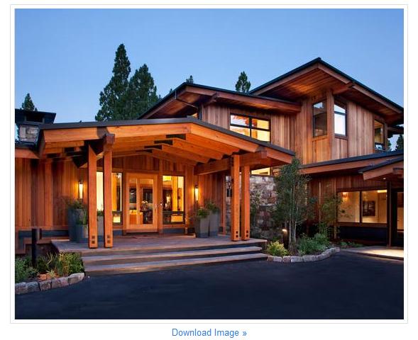 contoh desain model rumah kayu sederhana elegan