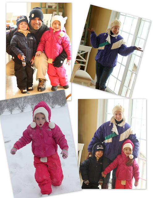 Kids Northface coats, Kids Northface jackets, Target snow pants, kids in snow, sledding, fashion blog