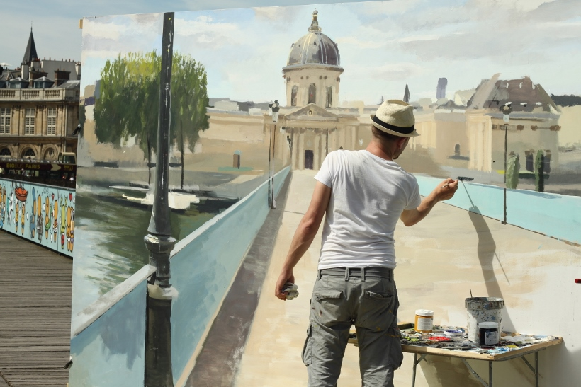 Pont des arts painter