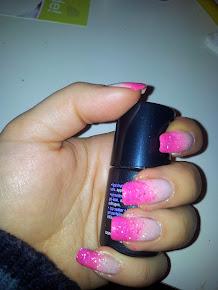 nail gradient glitter