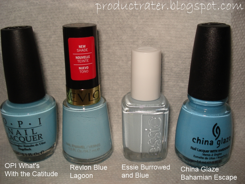 Productrater!: Baby Pastel Blue Nail Polish Swatches and Comparisons