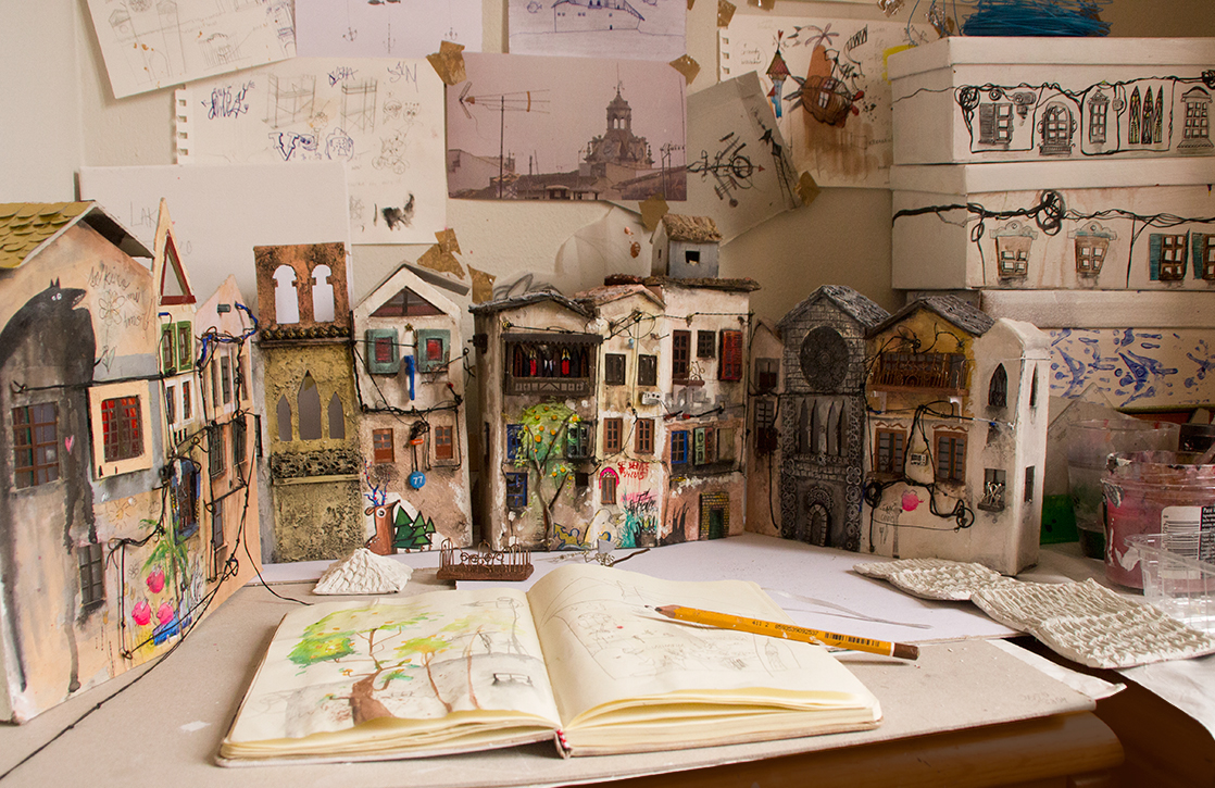 06-Katarina-Pridavkova-Fantasy-Architecture-in-Plaster-and-Clay-Town-www-designstack-co