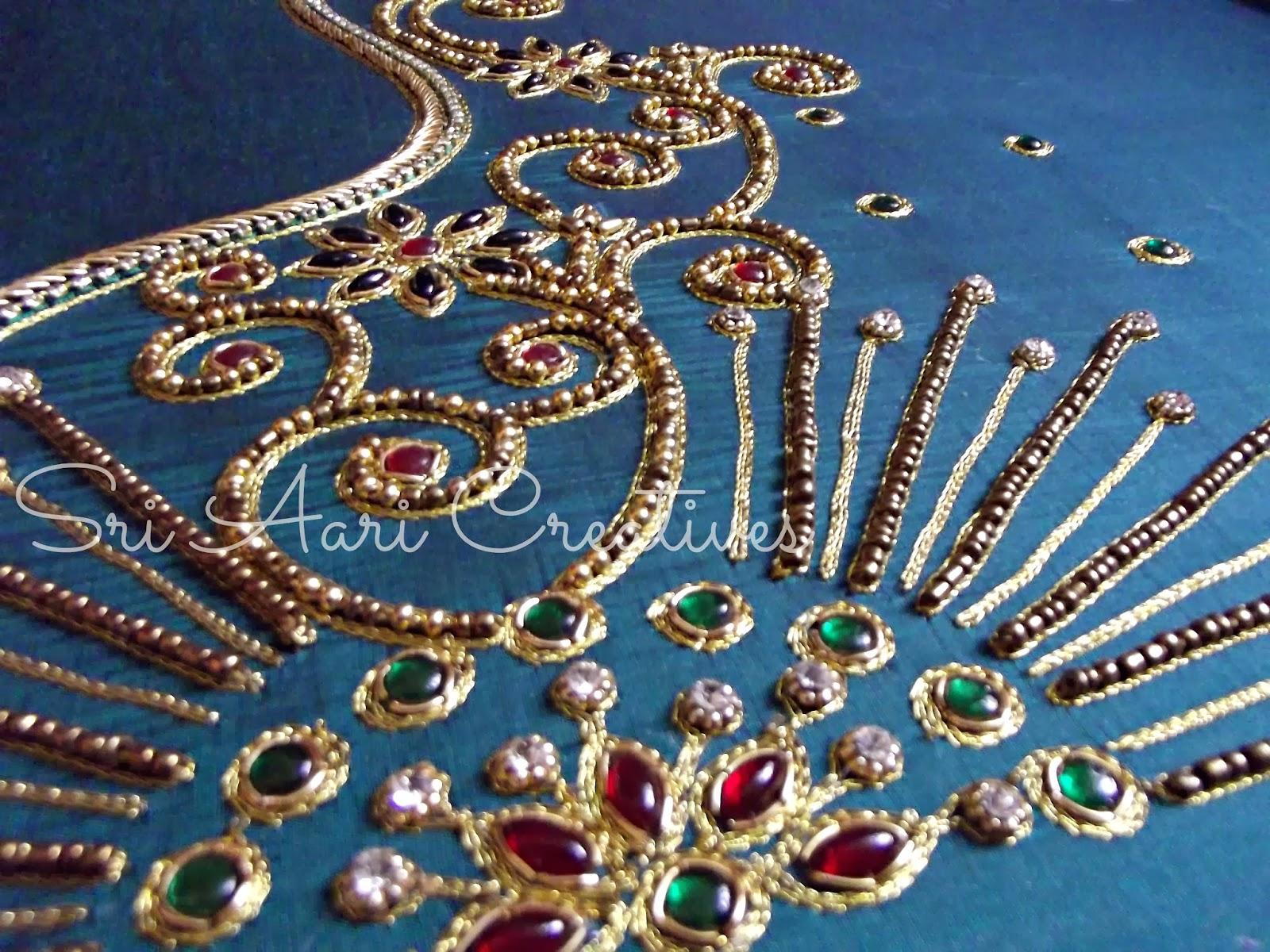 Sri aari creatives embroidery bridal blouse designs
