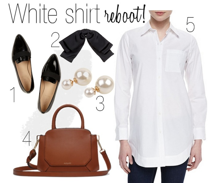 women's oxford shirt outfit idea spring 2015