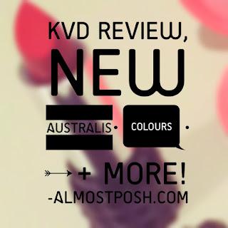 Kat Von D review, Australis Velourlips, AlmostPosh.com