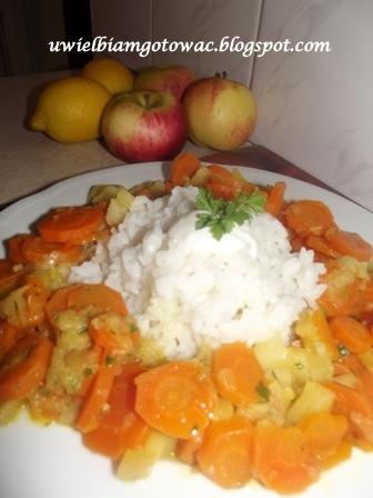 Ryż z marchewką i jabłkiem