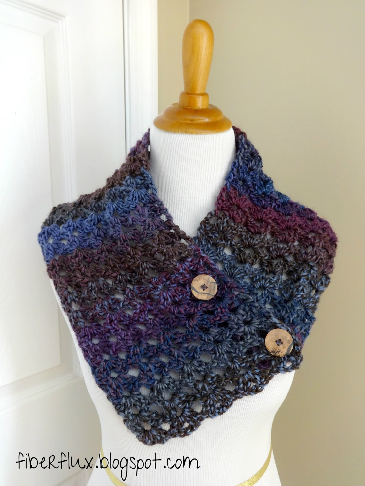 Fiber Flux: Free Crochet Pattern...Estelle Button Cowl!