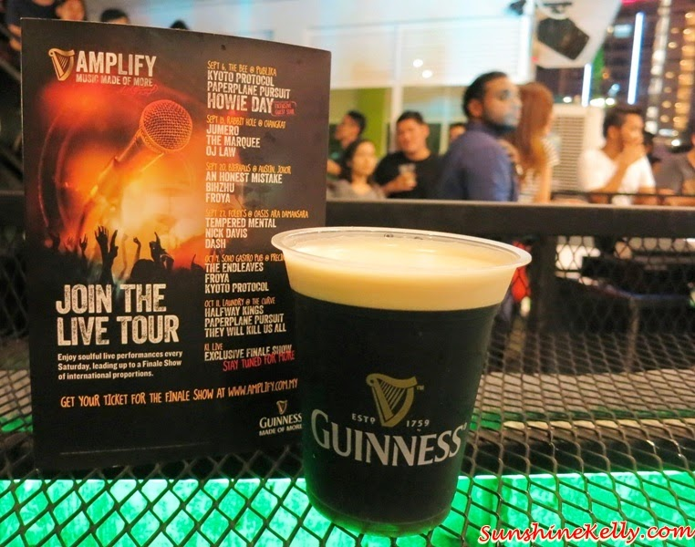 Guinness Amplify, Music Made of More, Amplify @ Foley's Oasis, Foley's Oasis Sky Bar Ara Damansara, Oasis Ara Damansara, Guinness Amplify Finale Show, Guinness Malaysia, Guinness
