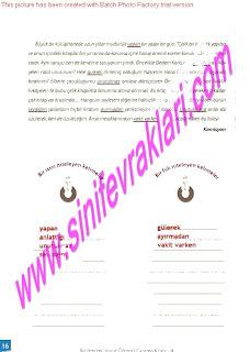 8.Sinif Turkce Enderun Yayinlari Calisma Kitabi Cevaplari Sayfa 16