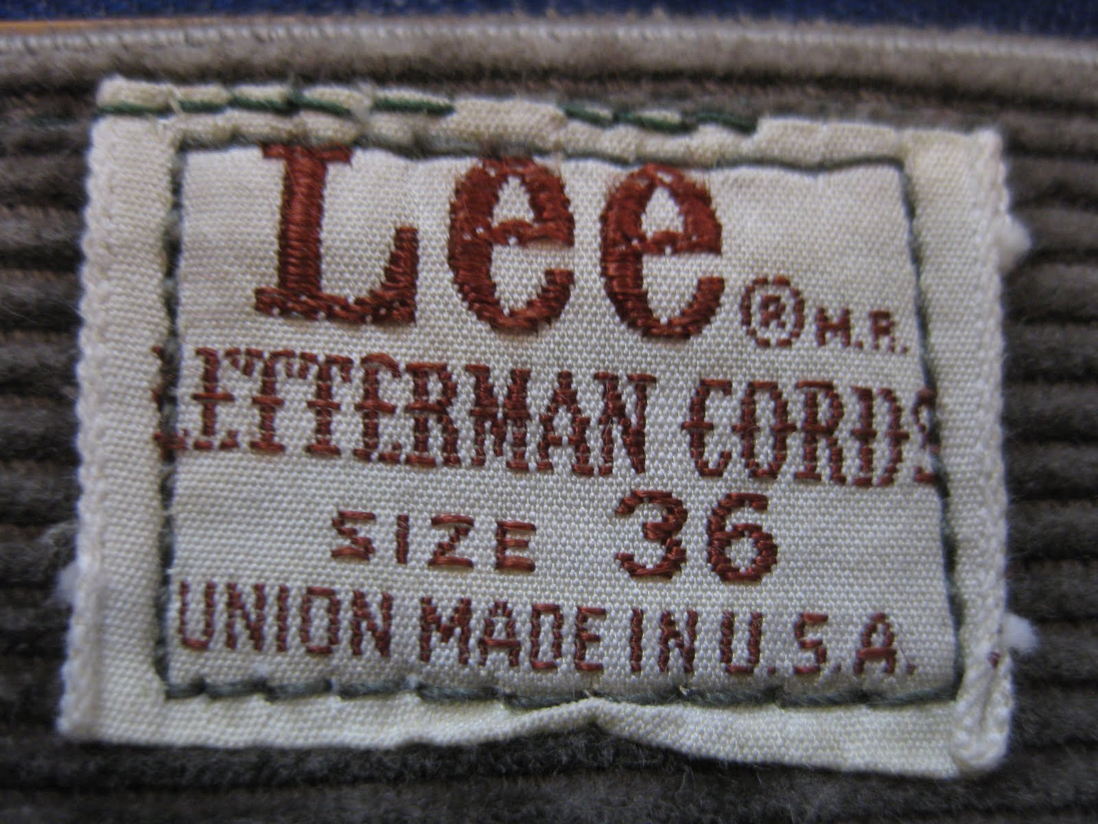 Lee                 LETTERMAN CORDS                  PANTS