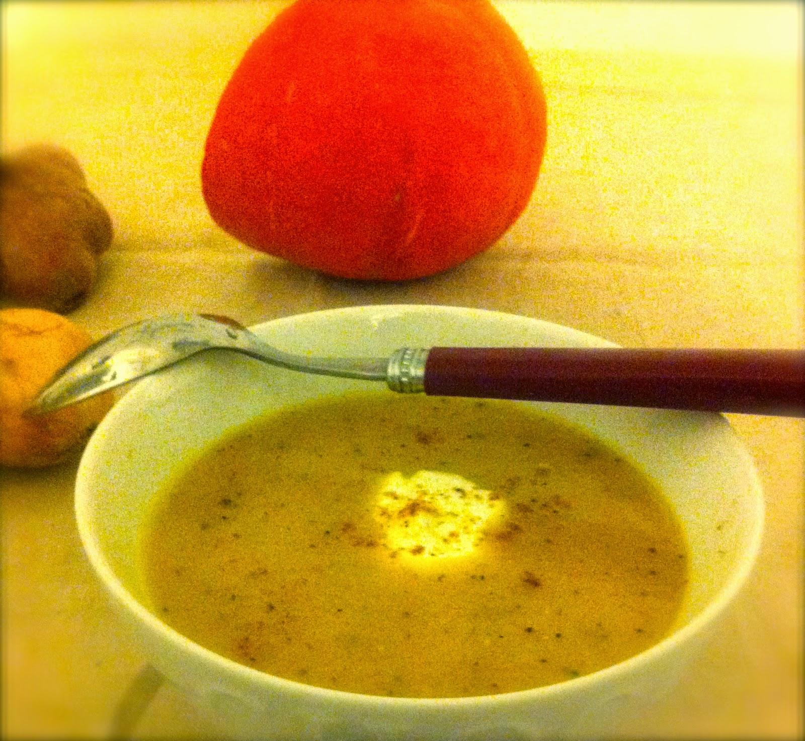 sale, velouté, potage, soupe, potiron, potimarron, pomme de terre, repas du soir, léger,