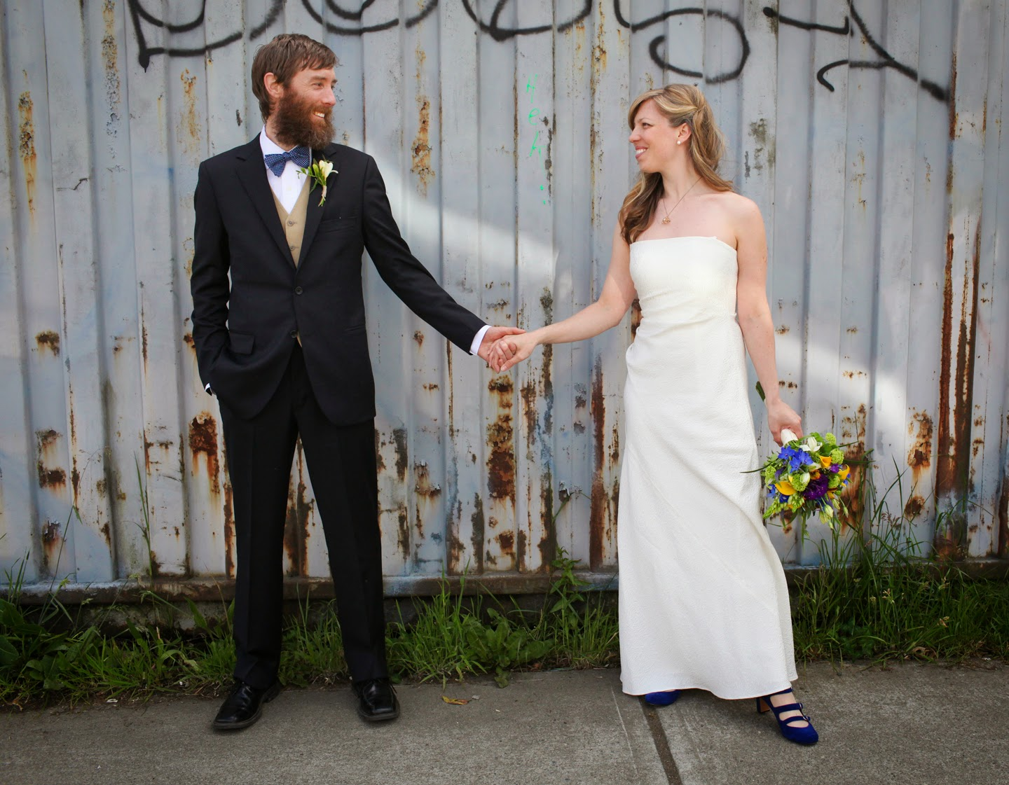 Molly and Brad wed at the Georgetown Ballroom - Patricia Stimac, Seattle Wedding Officiant