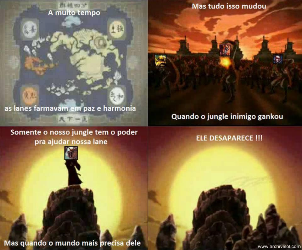 Avatar - A lenda do Jungler, tirinha lol, rengar