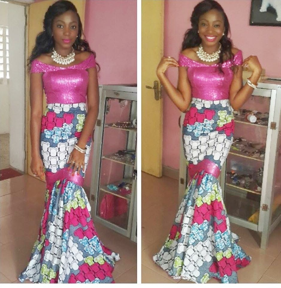 Ankara And Lace Combination Style Dezango Fashion Zone