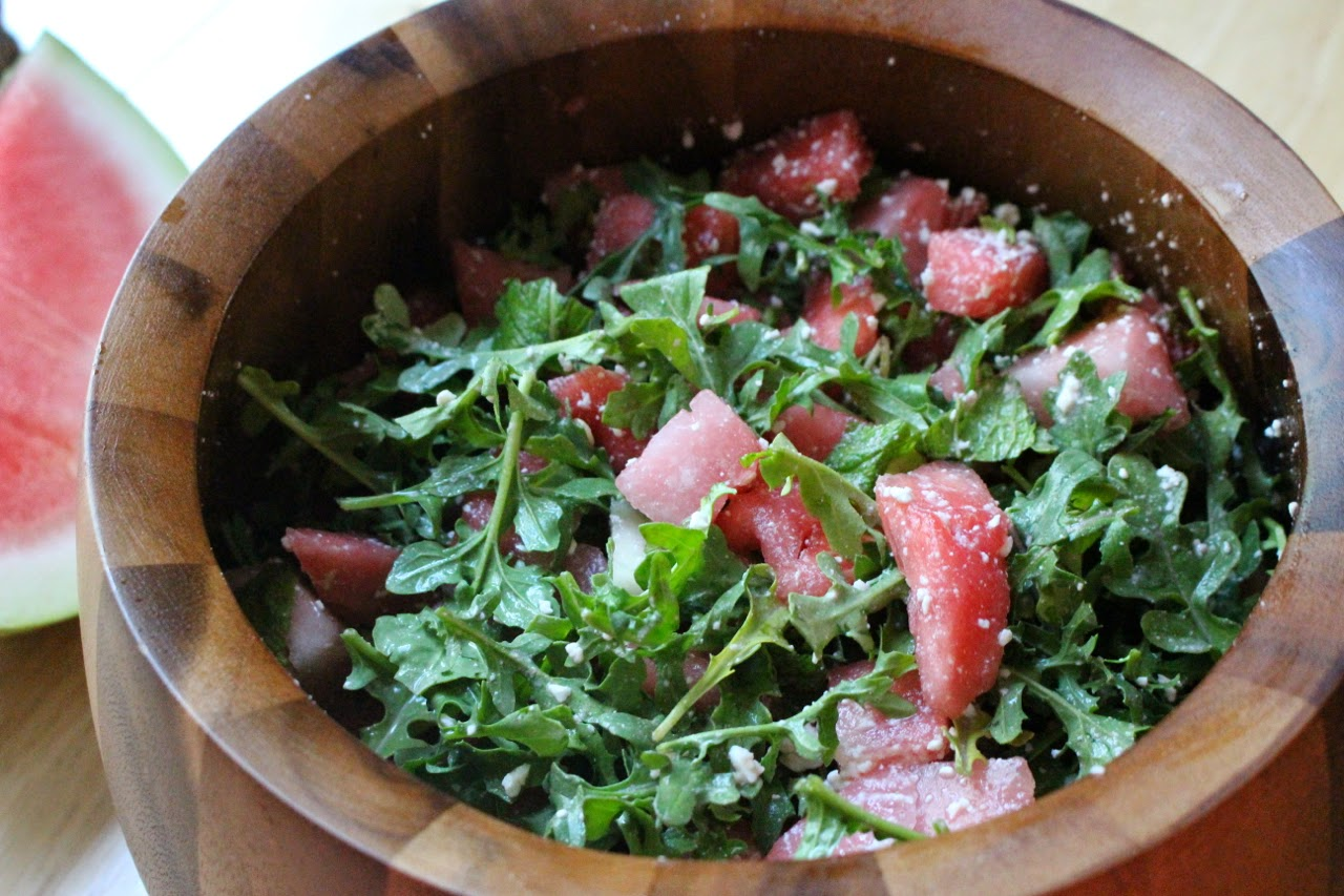 The Fit Girl's Kitchen: Watermelon Arugula and Feta Summer Salad