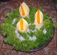 вкусные цветы из сыра