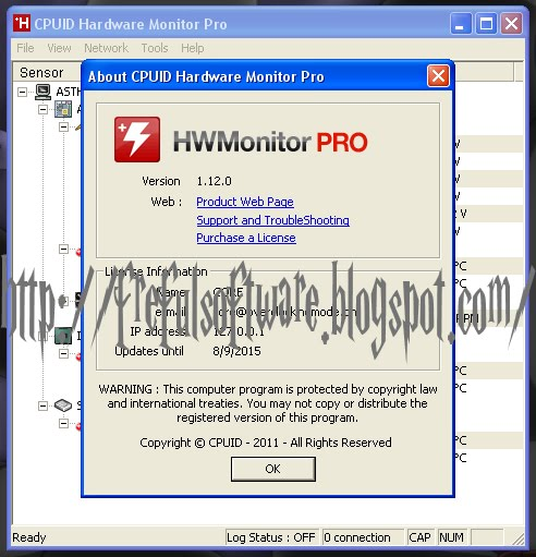 cpuid hardware monitor tmpin0