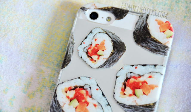 Clash Cases' phone cases are high-quality and well-made, with scratch-resistant ink and vibrant, beautiful designs, like their sushi case, pictured here.